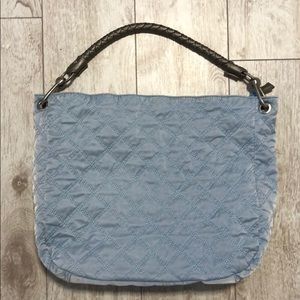 Co-lab blue fabric hobo bag